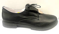 Туфли женские на низком ходу кожаные Uk0302