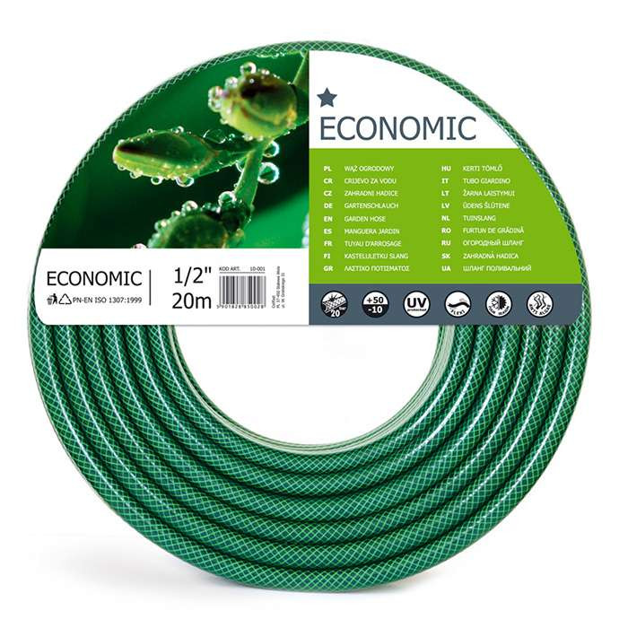 Садовый  шланг для полива Economic 1/2'20м. (10-001)