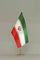 Флажок Ирана 13,5*25 см., плотный атлас