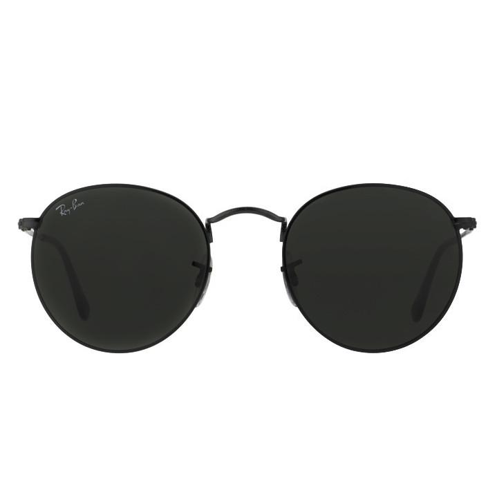 Очки Ray Ban RB 3447 Round Metal Black стекло комплект солнцезащитные копия 5aff3575d85