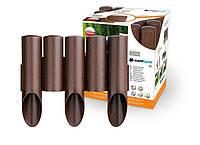 Садовое ограждение 5 элементов Standart коричневый 2,3 м. (34-001), фото 1