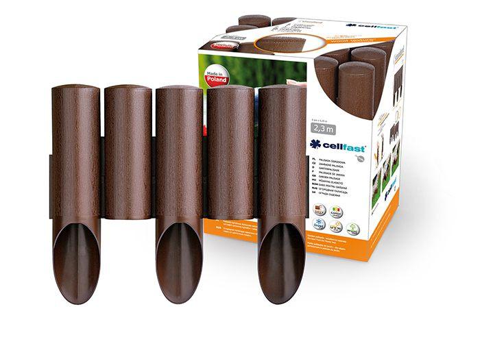 Садовое ограждение 5 элементов Standart коричневый 2,3 м. (34-001) - Интернет магазин budsite в Киеве