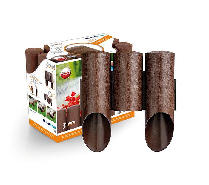 Садовое ограждение 3 элемента Maxi коричневый 2,1 м. (34-011)