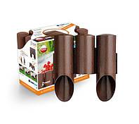 Садовое ограждение 3 элемента Maxi коричневый 2,1 м. (34-011), фото 1
