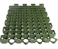Решетка газонная 60х40 пластиковая зеленая 3,8 см.