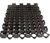 Решетка газонная 60х40 пластиковая черная 3,8 см.