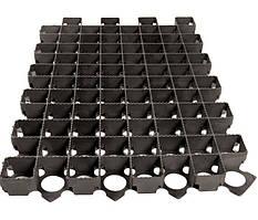 Решетка газонная Standartpark 60х40 пластиковая черная 3,8 см.