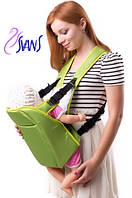 Рюкзак-кенгуру для переноски детей (аналог Womar) № 6 салатовый Украина 60706