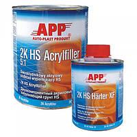 APP ACRYLFILLER 2K HS 5:1 Акриловый грунт наполняющий 1л + 0,20л (белый)