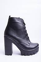 Ботинки из натуральной черной кожи №353-1, фото 1