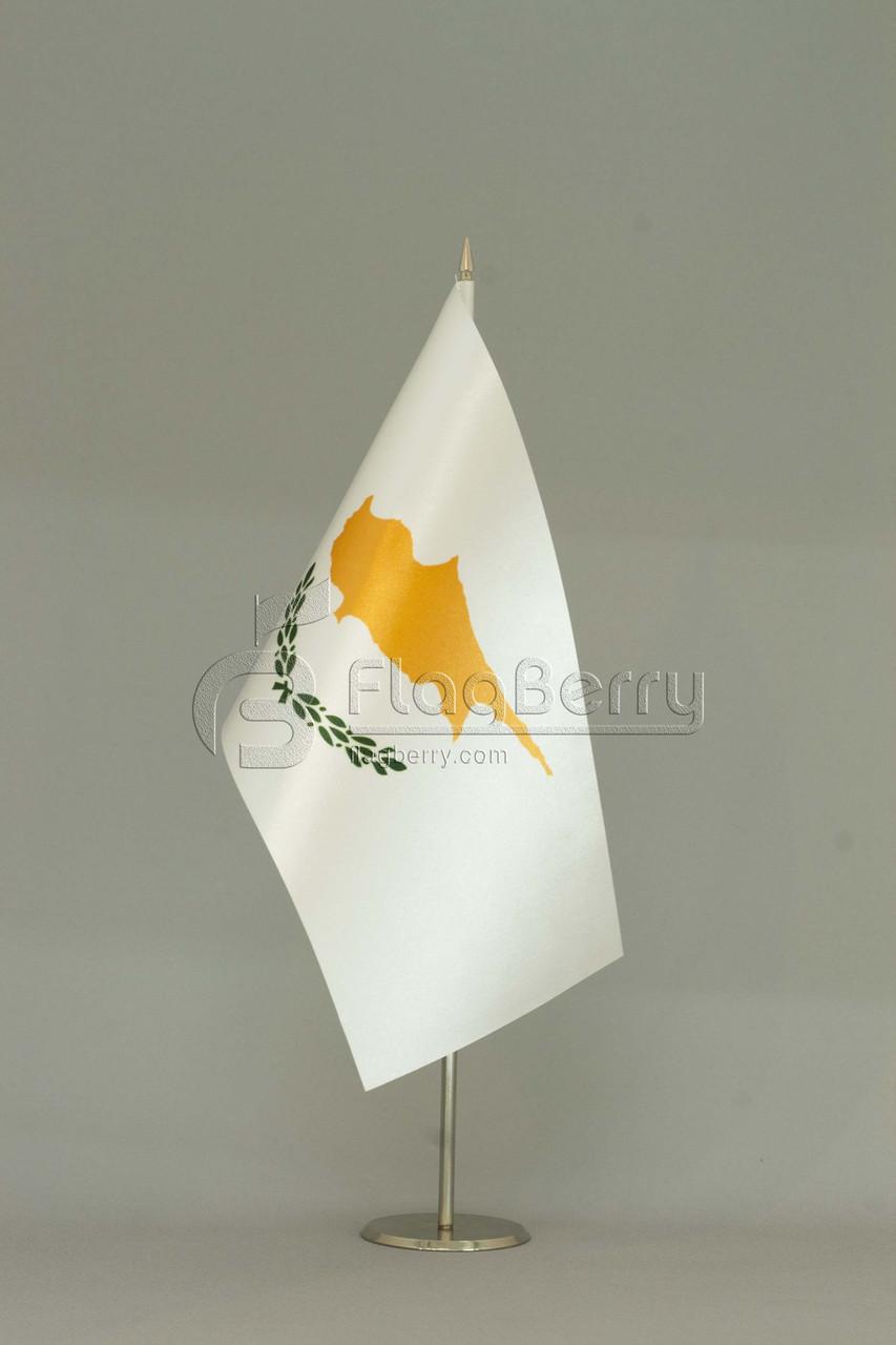 Флажок Кипра 13,5*25 см., плотный атлас, фото 1