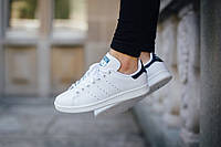 Кроссовки Adidas Stan Smith (White/Navy Blue).
