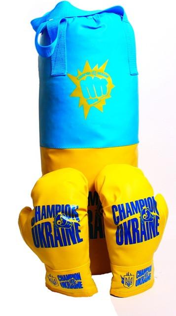 Боксерская груша Champion of  Ukraine большая