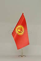 Флажок Киргизии 13,5*25 см., плотный атлас