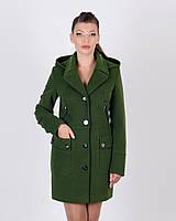 Пальто двубортное с капюшоном