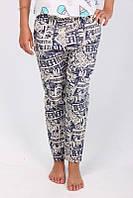 Оригинальные штаны в абстрактный принт
