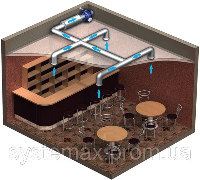 Вариант применения вентилятора ВЕНТС ВКМ 125
