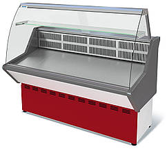 Витрина холодильная 1,8 м ВХС-1,8 Нова (с гнутым стеклом)