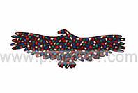Коврик-дорожка массажный Орел с цветными камнями 148*50 см