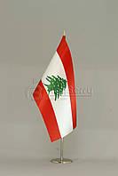 Флажок Ливана 13,5*25 см., плотный атлас