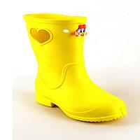 Сапоги детские желтые -116613