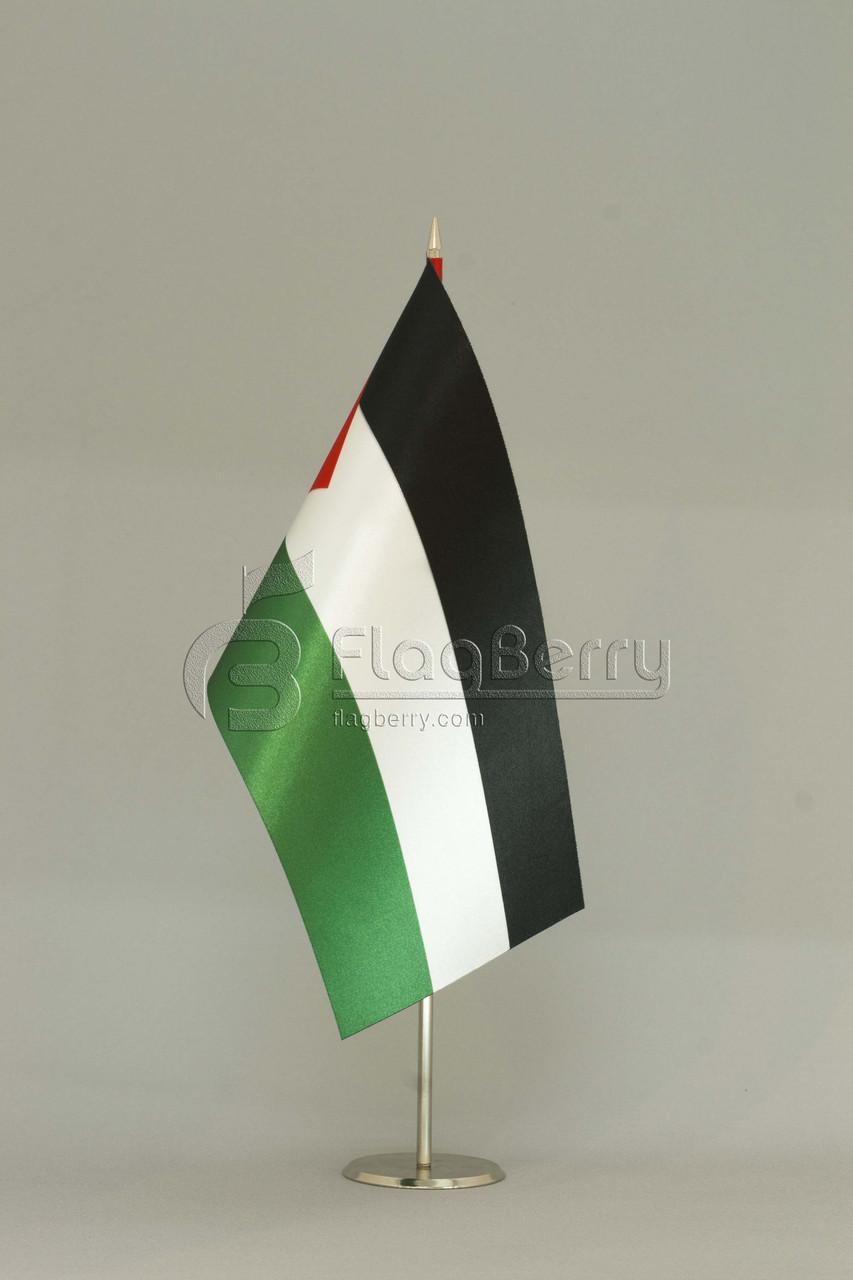 Флажок Государства Палестина 13,5*25 см., плотный атлас, фото 1