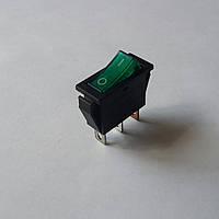 Вимикач клавішний KCD3 (зелена)