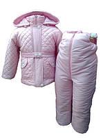 РОзовый зимний костюм для девочки. 80, 86, 92, 98, 104, 110