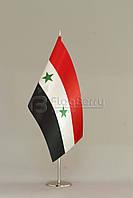 Флажок Сирии 13,5*25 см., плотный атлас, фото 1