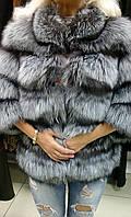 Шуба натуральная из меха лисы короткая, фото 1
