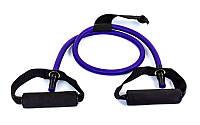 Эспандер трубчатый с ручками с дверным фиксатором FI-2659-V 50LB (латекс,d-6x12мм, l-120см, фиолет)