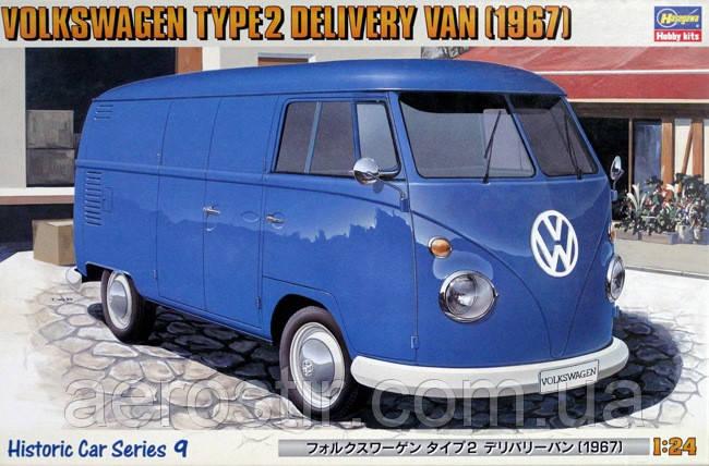 Автомобиль VOLKSWAGEN TYPE 2 DELIVERY VAN [1967] 1/24 Hasegawa 21209