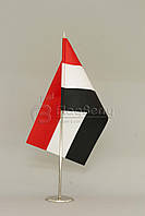 Флажок Египта 13,5*25 см., плотный атлас