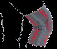 Бандаж на коленный сустав вязанный эластичный усиленный  (R6104)