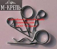 Шплинт игольчатый R-образный 4 оцинкованный DIN 11024 форма Е сталь 70