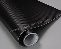Пленка под карбон 3D черная CF air channel (крупная текстура)