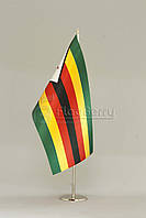 Флажок Зимбабве 13,5*25 см., плотный атлас