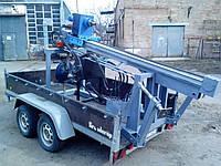 Гидравлическая буровая установка на двуосном прицепе