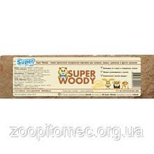 SUPER WOODY пресована натуральна підстилка для гризунів 8л