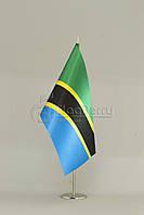 Флажок Танзании 13,5*25 см., плотный атлас