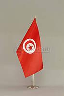 Флажок Туниса 13,5*25 см., плотный атлас