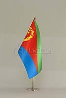 Флажок Эритреи 13,5*25 см., плотный атлас