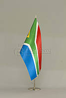 Флажок ЮАР 13,5*25 см., плотный атлас, фото 1