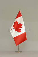 Флажок Канады 13,5*25 см., плотный атлас, фото 1