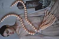 "Колье из розово-бежевого жемчуга с кистью ""Александра"", фото 1"