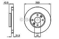 Диск тормозной передний Рено Меган II 1.4 Bosch (Германия) 0 986 479 103
