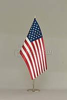 Флажок США 13,5*25 см., плотный атлас, фото 1