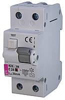 Дифференциальный автоматический выключатель KZS-2M AC С25/0.03