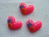 Декор для бантов и скрапа. Розовое сердце