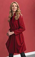 Женское стильное пальто красного цвета. Модель Ever Zaps. Коллекция осень-зима 2016-2017.